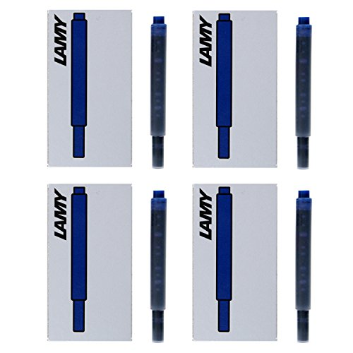 Lamy Fountain Pen Ink Cartridges, Black/Blue Ink, 4 Packs of 5 Each (LT10BKBL)