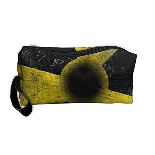 Radioactive 3D Full Print Portable Pouch Bag Travel Case Cosmetic Makeup Bag With Zipper