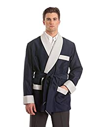 Duke & Digham Men's Smoking Jacket Orville Navy