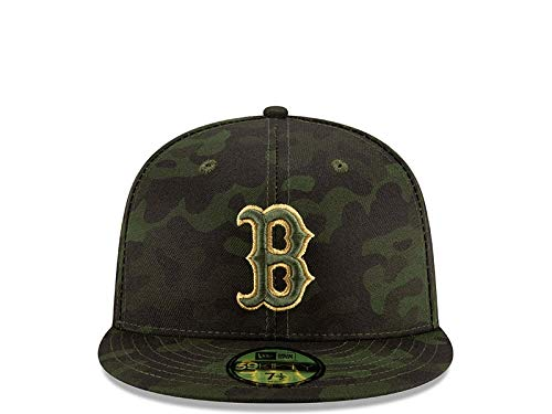 6d6df6e0 New Era Boston Red Sox 2019 MLB Armed Forces Day On-Field 59FIFTY Fitted Hat  - Camo (7 1/2)