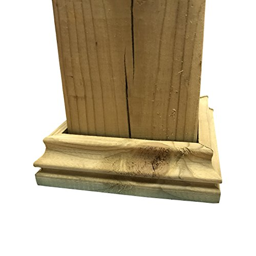 Cambium - Pressure Treated Wood Decorative Post Base for 3.5