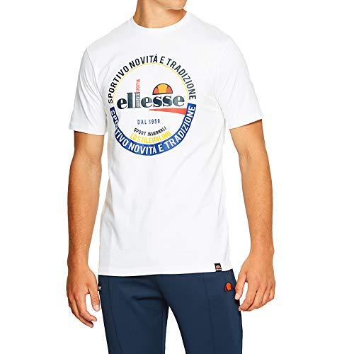 ellesse Men T-Shirt Rombio, Size:XL, Color:Optic White