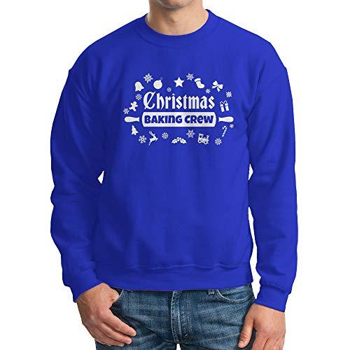 Unisex Christmas Baking Crew Crewneck Sweatshirt (Royal, XX-Large)