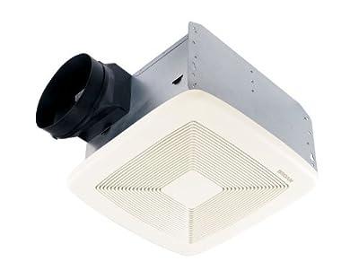 Broan Ultra Silent Bath Fan, 80 CFM, White Grille