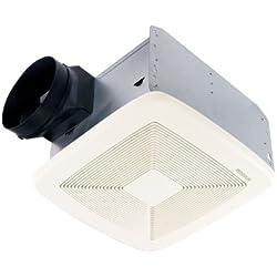 Broan QTXE110 Ultra Silent Bath Fan, 110 CFM, White Grille