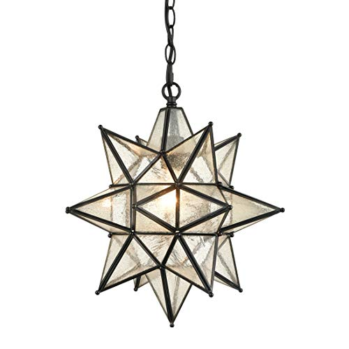 Star Pendant Light Fixture Glass in US - 4