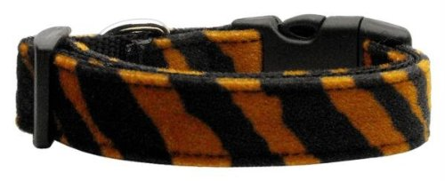 Mirage Pet Products Animal Print Nylon Collars, Medium, Tiger