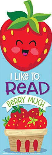 EUREKA 24 Piece Scratch-and-Sniff Strawberry Scented Bookmarks,