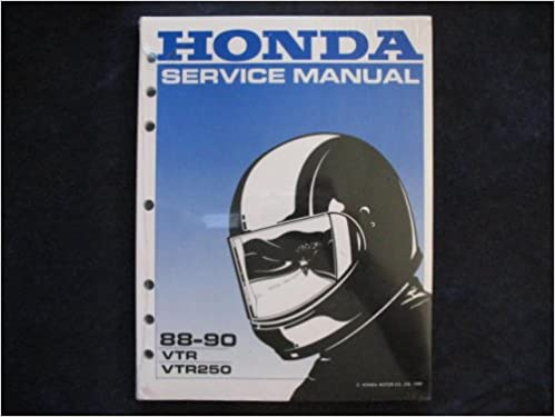 honda 1988-1990 vtr250 vtr 250 interceptor new factory shop manual: honda  motor co : amazon com: books