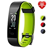 Lintelek Unisex Adult Fitness Tracker, Large Screen Activity Heart Rate Monitor, Watch with Color Screen, Double Color Strap, Waterproof Pedometer with 14 Sports Modes