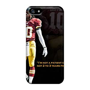 MansourMurray Iphone 5/5s Shock Absorbent Hard Phone Case Support Personal Customs Beautiful Washington Redskins Pattern [FmJ2887iEyf]
