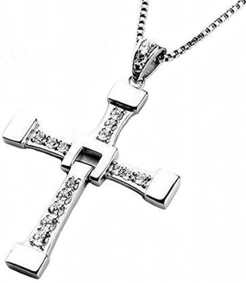 ワイルド・スピード ドミニク クロス ネックレス 直筆サインフォトカード付(リプリント) ドム モデル 十字架 ヴィン・ディーゼ