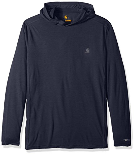 Carhartt Men's Force Extremes Hooded Pullover (Regular and Big & Tall Sizes), Navy Heather, X-Large (Tall Hooded Pullover)