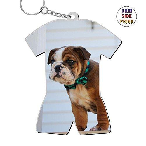 Keychain Bulldog Keyring World Cup Polo Shirt Logo Key Ring Key Fob Alloy Nice Funny ()