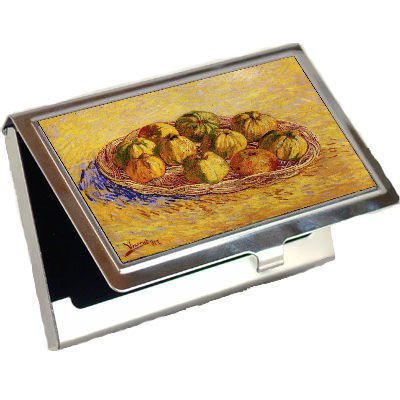 Still Life with Basket of Apples By Vincent Van Gogh Business Card Holder