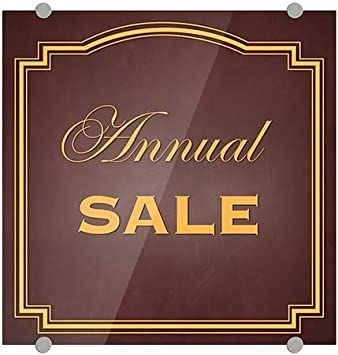 Annual Sale CGSignLab 16x16 Classic Brown Premium Brushed Aluminum Sign 5-Pack