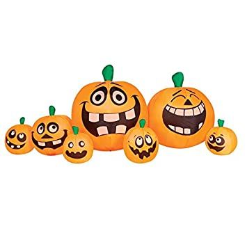 Amazoncom Inflatable Halloween Pumpkin Patch Lighted Decoration