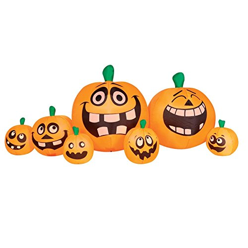 Outdoor Lighted Jack O Lanterns - 3