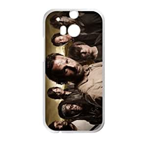 Generic Design Back Case Cover HTC One M8 Cell Phone Case White The Walking Dead Nbisj Plastic Cases