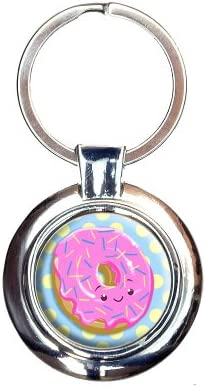 Amazon com : Cute Donut Keychain Key Ring : Office Products