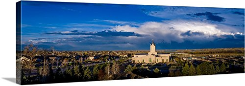 greatBIGcanvas Gallery-Wrapped Canvas entitled Fort Collins Colorado Temple Panorama, Fort Collins, Colorado by Scott Jarvie 60