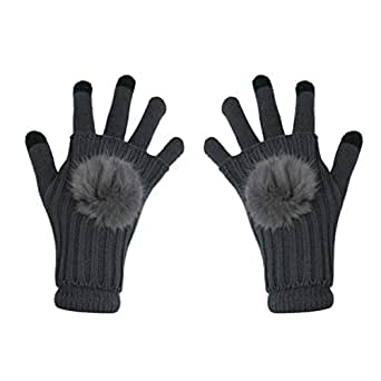 ECYC Women Touch Screen Mittens Winter Warm Full-Finger