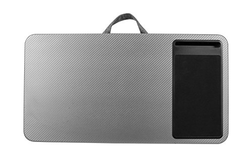 LapGear Home Office Lap Desk - Silver Carbon (Fits up to 17