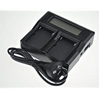 NP-FW50 Battery Charger AC Dual LCD Replacement For NPFW50 ILCE-7 a7 7/B 7K/B ILCE-7R ILCE-7R II a7R II 7R/B ILCE-7S…