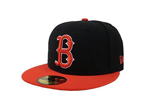 Brooklyn Dodgers Era New (New Era 59Fifty Hat Brooklyn Dodgers Coopertown Black/Orange Fitted Cap (7 1/2))
