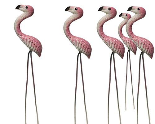 20 pcs. Terrarium Mini Pink Flamingo Stake Miniature Dollhouse Fairy Garden Accessorie