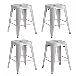 Amazon Com Metal Frame Tolix Style Bar Stool Industrial