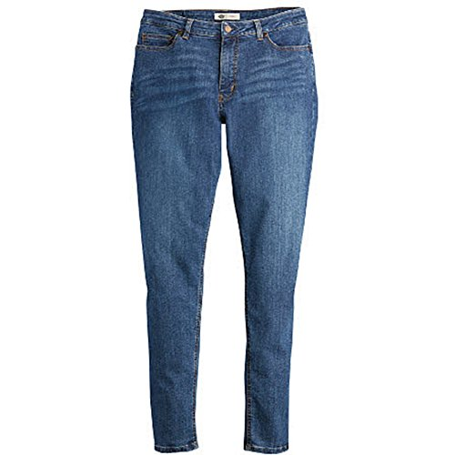 Dickies Women's Plus Size Perfect Shape Denim Jean-Skinny Stretch, Stonewashed Indigo Blue, 22WRG (Womens Stonewashed Jeans)