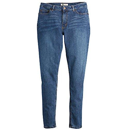 Dickies Premium Denim - Dickies Women's Plus Size Perfect Shape Denim Jean-Skinny Stretch, Stonewashed Indigo Blue, 16WRG