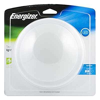 Energizer LED Tap Light, Wireless, Touch On/Off, Soft White, 36521