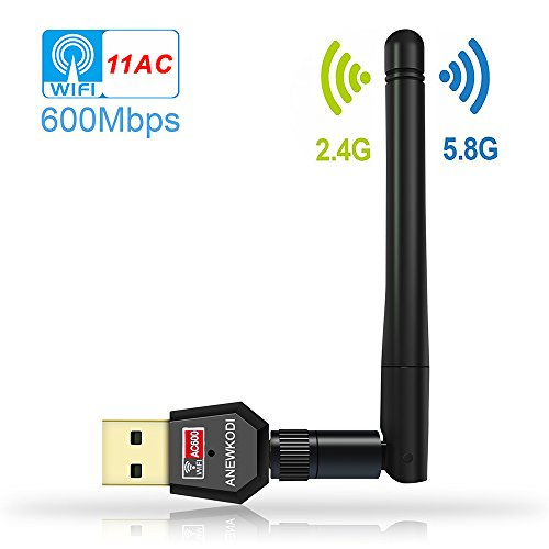 ANEWKODI-AC600Mbps-Wifi-Adapter-Dual-Band-24G58G-Wireless-Network-Adapter-80211ac-USB-Wifi-Adapter-for-DesktopLaptopPC-Support-Windows-108187XPVista-MAC-OS-104-1012