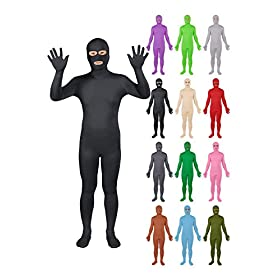 - 41Lq ZSZR0L - Sheface Spandex Eyes & Mouth Open Second Skin Zentai Full Body Costume
