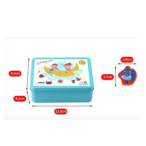 Yubenhong Magnetic Fishing Toys Game Set for Kids for Bath Time Pool Party with Pole Rod Net, Plastic Floating Fish - Toddler Education Teaching and Learning Colors Ocean Sea Animals