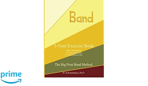 Amazon com: 3-Note Exercise Book: Bass Trombone TT