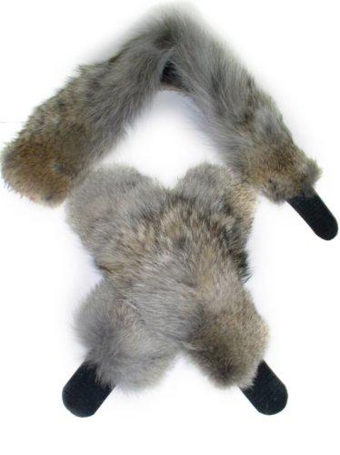 Natural Coyote Cuffs & Collar/Headband Set (Coyote Fur Headband)
