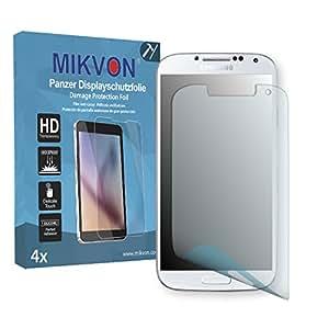 4x Mikvon Película blindada protección de pantalla Samsung Galaxy S4 Value Edition (GT-I9515) Protector de Pantalla - Embalaje y accesorios
