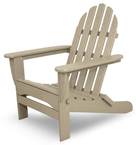 Ivy Terrace IVAD5030SA Classics Folding Adirondack Chair, Sand For Sale