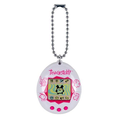 Tamagotchi Electronic Game, White/Pink