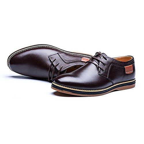 Eagsouni Herren Freizeitschuhe Schnürhalbschuhe Leder Casual Schuhe Klassiker Oxfords t4bXgpqwV
