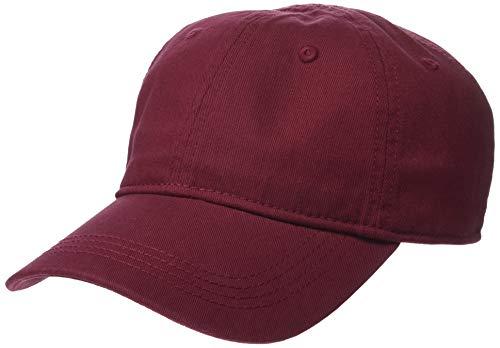 (Lacoste Men's Classic Gabardine Cap, Pinot Noir Red, One Size)