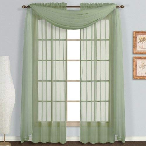 VNKDECO Curtain Scarf Sheer Voile Valance 37