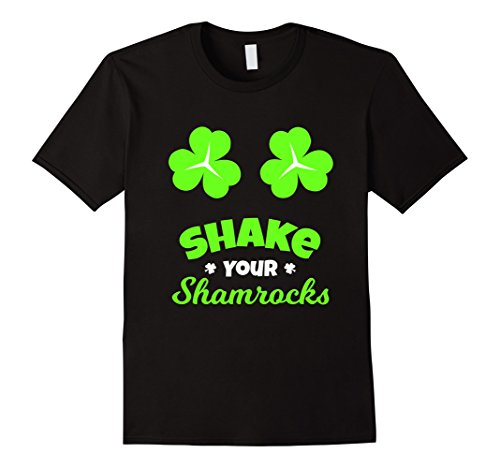 Men's FUNNY SHAKE YOUR SHAMROCKS T-SHIRT St Patrick's Day Gift 2XL Black (The Today Show Halloween Costumes)