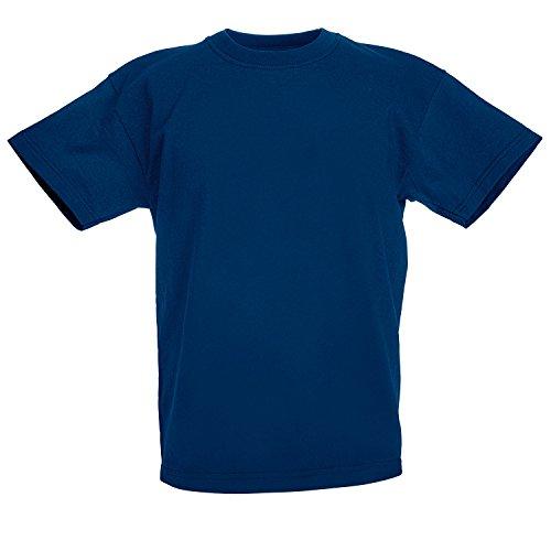 Fruit Of Unisex Valueweight Loom Manica T Blu shirt The Corta Bambini Navy 6I6w4drqx