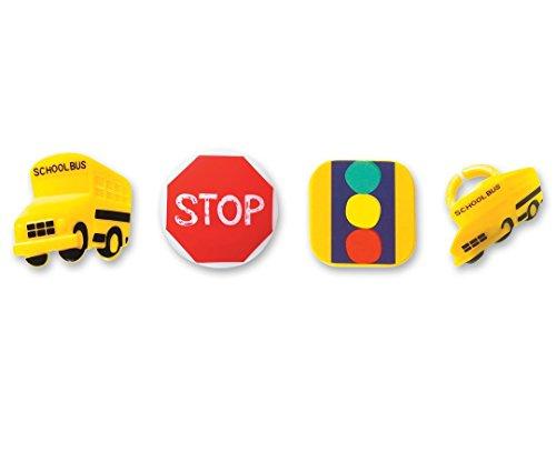 - DecoPac Stop, Look & Listen School Theme Cupcake Rings (12 Count)
