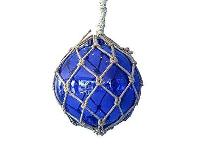 """Azul náutico cristal flotador 9 """" – Flotador de cristal náutico decoración bolas de cristal"""