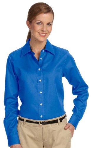 Devon & Jones Womens Pima Advantage Twill (D610W) -FRENCH BLUE -L - Devon And Jones Twill Shirt